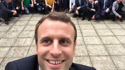 Le selfie de Emmanuel Macron vaut le