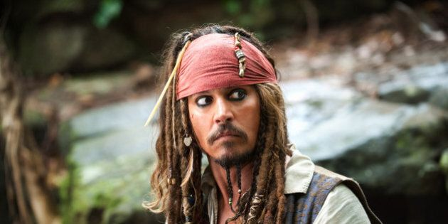 FILE - In this file film publicity image released by Disney, Johnny Depp portrays Captain Jack Sparrow...