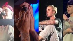 Justin Bieber a (encore) pleuré pendant un concert