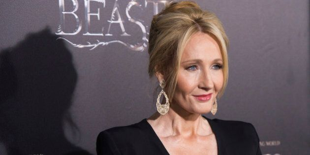 J. K. Rowling attends the world premiere