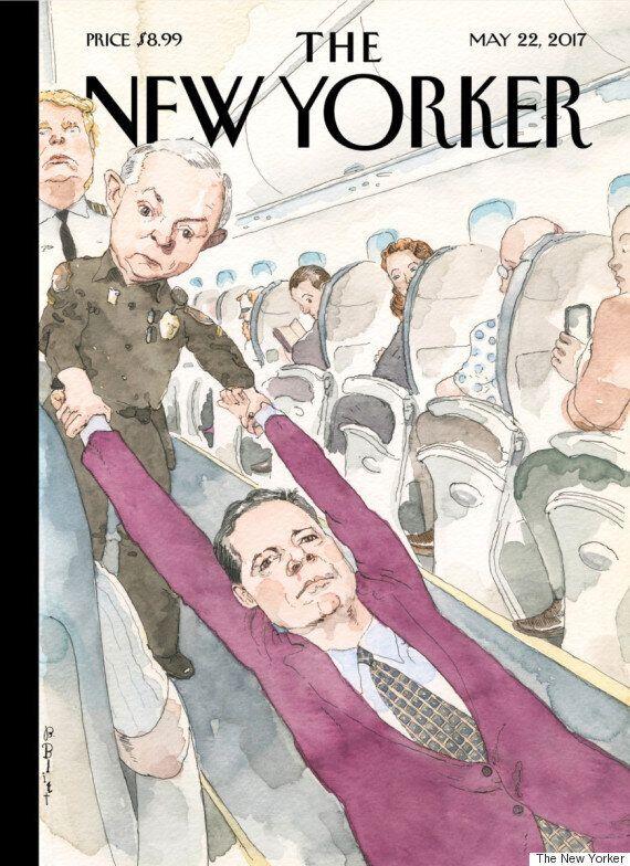 Cette couverture du «New Yorker» résume la violence du renvoi du patron du