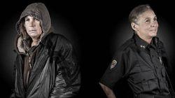 Des sans-abri photographiés à côté de la personne qu'ils auraient rêvé devenir