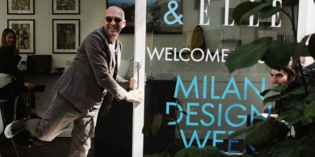 MILAN, ITALY - APRIL 12: (EDITORS NOTE: Image has been desaturated.) Designer Antonio Marras and elle.it...