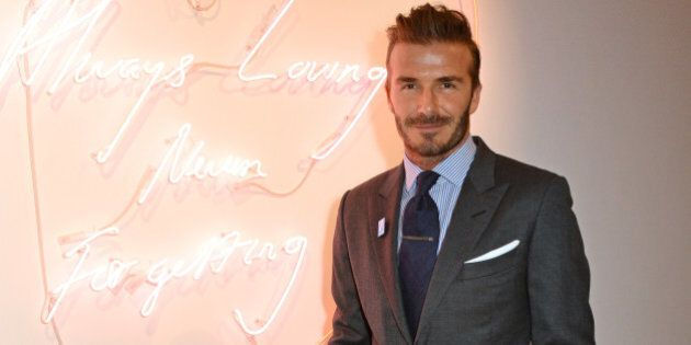 LONDON, ENGLAND - MARCH 10:  David Beckham attends a charity auction of 'David Beckham: The Man' hosted by Phillips at their European Headquarters and catered by Sexy Fish on March 10, 2016 in London, England.  The auction is in support of '7: The David Beckham UNICEF Fund' and UK charity 'Positive View Foundation'.  (Photo by David M. Benett/Dave Benett/Getty Images for Phillips Auctioneers)