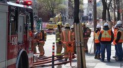 La rue Saint-Denis fermée en raison d'une fuite de