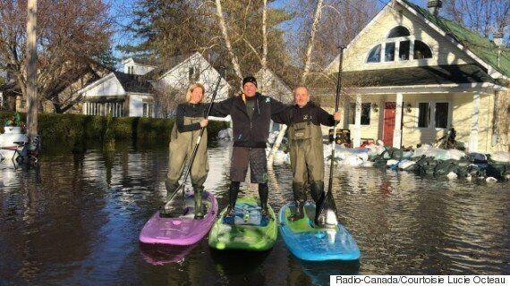 Inondations: la «petite maison blanche»