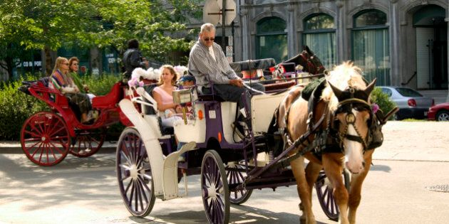 Horse drawn Carriage, Old Montreal, Quebec.