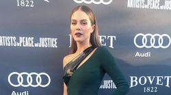 TIFF 2016 - Maripier Morin porte la première robe créée par l'ex-styliste de Céline
