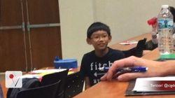 À 11 ans, il est déjà la vedette de son