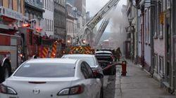 Incendie majeur dans le Vieux-Québec, aucun