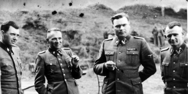 UNSPECIFIED - CIRCA 1754: Dr Josef Mengele (1911-1979) left, known as 'The Angel of Death' for the medical...