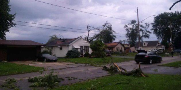 La région de Windsor frappée par une tornade, selon Environnement