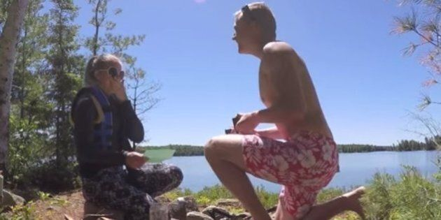 La demande en mariage de cet Ontarien est d'un romantisme