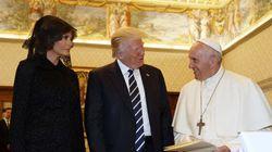 Tout le monde a cru que le pape parlait de pizza à Melania Trump