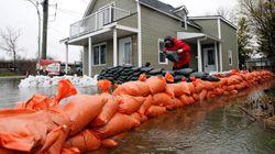 Inondations: le sommet atteint entre lundi et