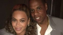Beyoncé et Jay Z ont le même look à la première de Hands of Stone