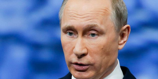 Russian President Vladimir Putin addresses the St. Petersburg International Economic Forum in St.Petersburg,...