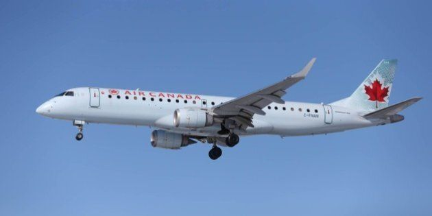 TORONTO, ON - FEBRUARY 5 - An Air Canada airplanes about to land at Pearson International Airport. (Carlos...