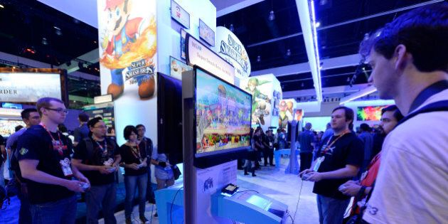Attendees play the