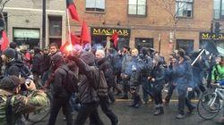 Manif anticapitaliste: débordements à Montréal