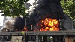 Témoignage de l'incendie sur l'autoroute