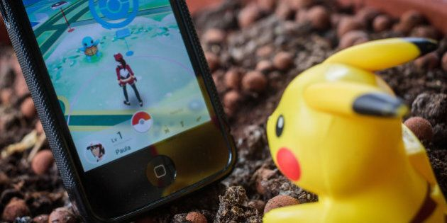 PARIS, FRANCE - JULY 22: In this photo illustration, the awaited smartphone application 'Pokemon Go'...
