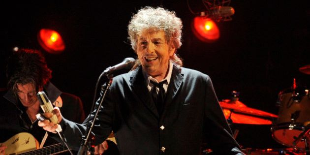 FILE - In this Jan. 12, 2012, file photo, Bob Dylan performs in Los Angeles. The city of Hibbing, Minn.,...