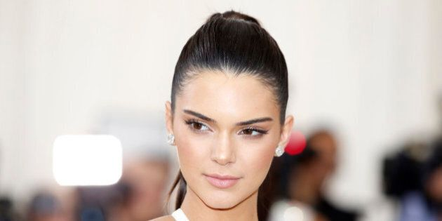 Television personality Kendall Jenner arrives at the Metropolitan Museum of Art Costume Institute Gala...