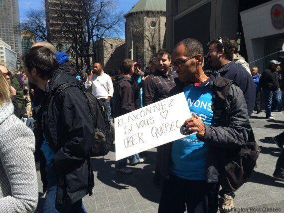 Deux manifestations pro et anti Uber à Montréal