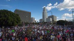 Plus d'un demi-million de manifestants à la marche des femmes de Los