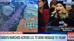 Madonna participe à la «Marche des femmes» de Washington pour faire passer un