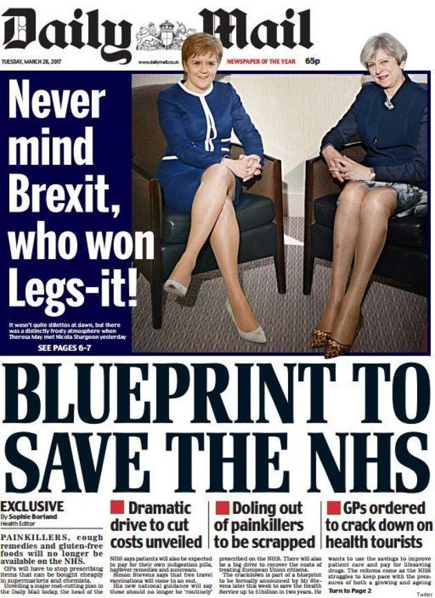 Le «Daily Mail» bat des records de sexisme avec cette Une sur Theresa May et Nicola
