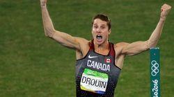 Derek Drouin remporte la médaille d'or en finale du saut en