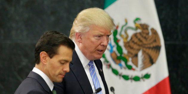 U.S. Republican presidential nominee Donald Trump and Mexico's President Enrique Pena Nieto arrive for...