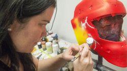 Métier: designer de masques des gardiens de but de la