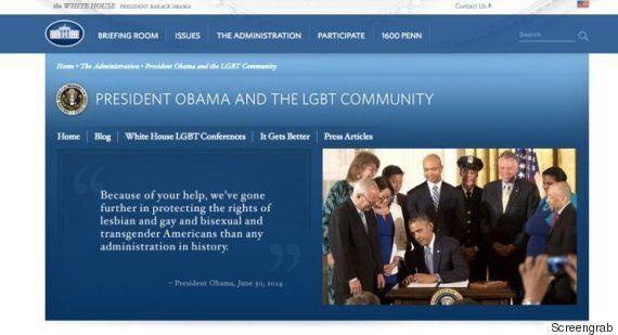La Maison-Blanche a supprimé toute mention des droits LGBT de son site
