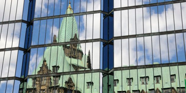 Parliament Building Reflection on