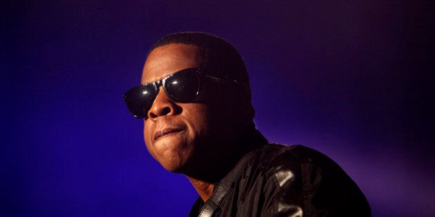 Musician Jay-Z performs during the All Points West music festival at Liberty State Park in Jersey City,...