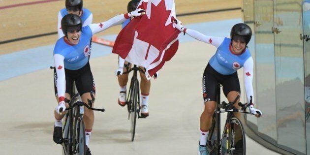 Le Canada obtient la médaille de bronze en poursuite par