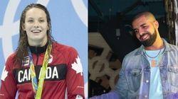 Penny Oleksiak reçoit des billets gratuits pour un spectacle de Drake à guichets