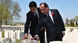 Vimy: Trudeau et Hollande soulignent les sacrifices de milliers de