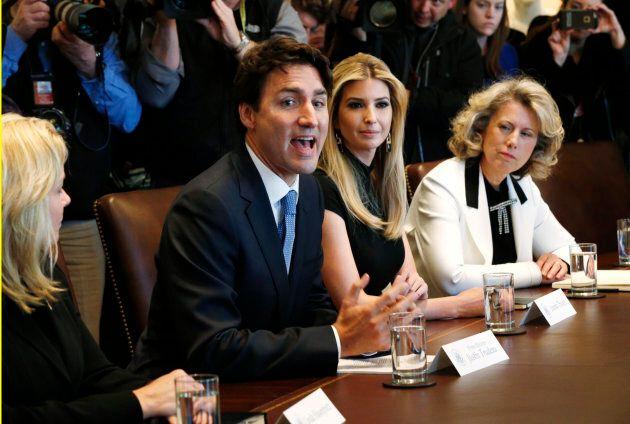 Justin Trudeau et Ivanka Trump le 13 février
