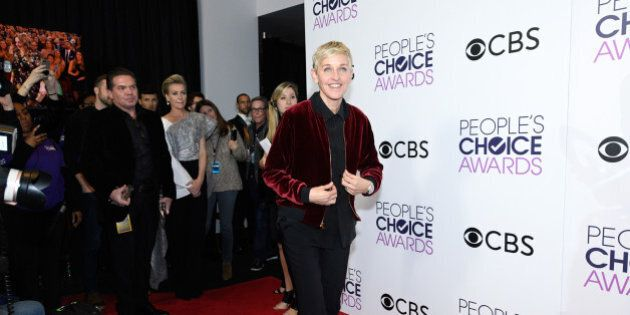 LOS ANGELES, CA - JANUARY 18: TV Personality Ellen Degeneres, poses in the press room during the People's...