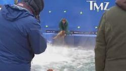 Cruauté animale: un chien jeté dans des eaux turbulentes lors du tournage d'un
