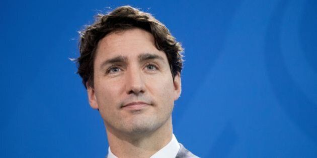 Canadian prime minister Justin Trudeau attends a joint press conference with the German Chancellor on...