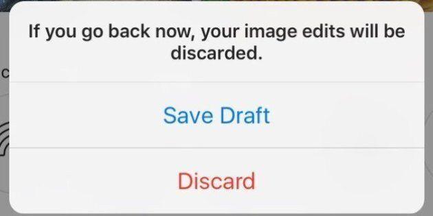 Instagram teste «Save Draft», l'option que tout le monde
