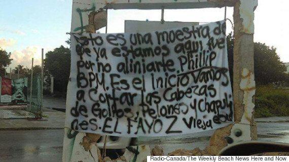 Une banderole jette un éclairage sur la fusillade de Playa del