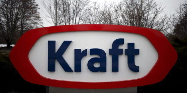 The Kraft logo is pictured outside its headquarters in Northfield, Illinois, March 25, 2015. REUTERS/Jim...