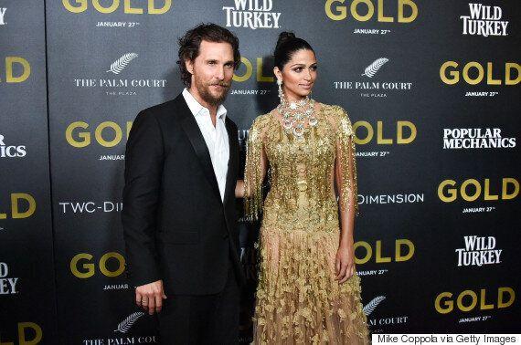 Matthew McConaughey et Camila Alves, couple le plus glamour de l'avant-première mondiale du film « Gold