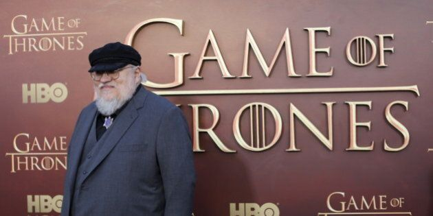 Co-executive producer George R.R. Martin arrives for the season premiere of HBO's